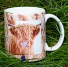 Licky Cow Individually Printed Highland Cow Mug